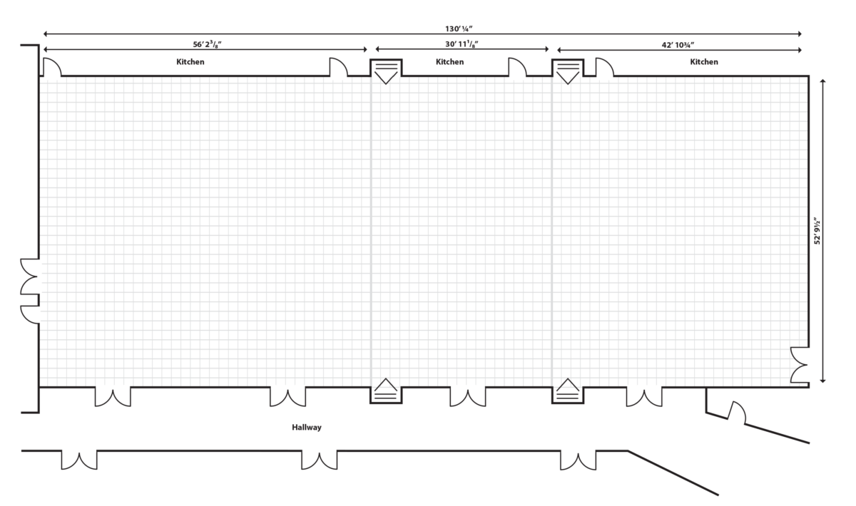 Promenade Ballroom Floor Plan