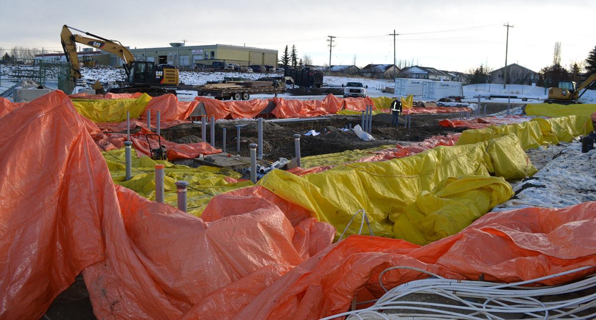 Staybridge Suites construction in Red Deer, Alberta 2018