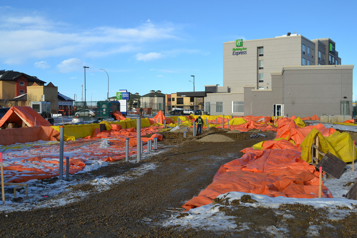 Holiday Inn Express and Staybridge Suites duel property in Red Deer, Alberta