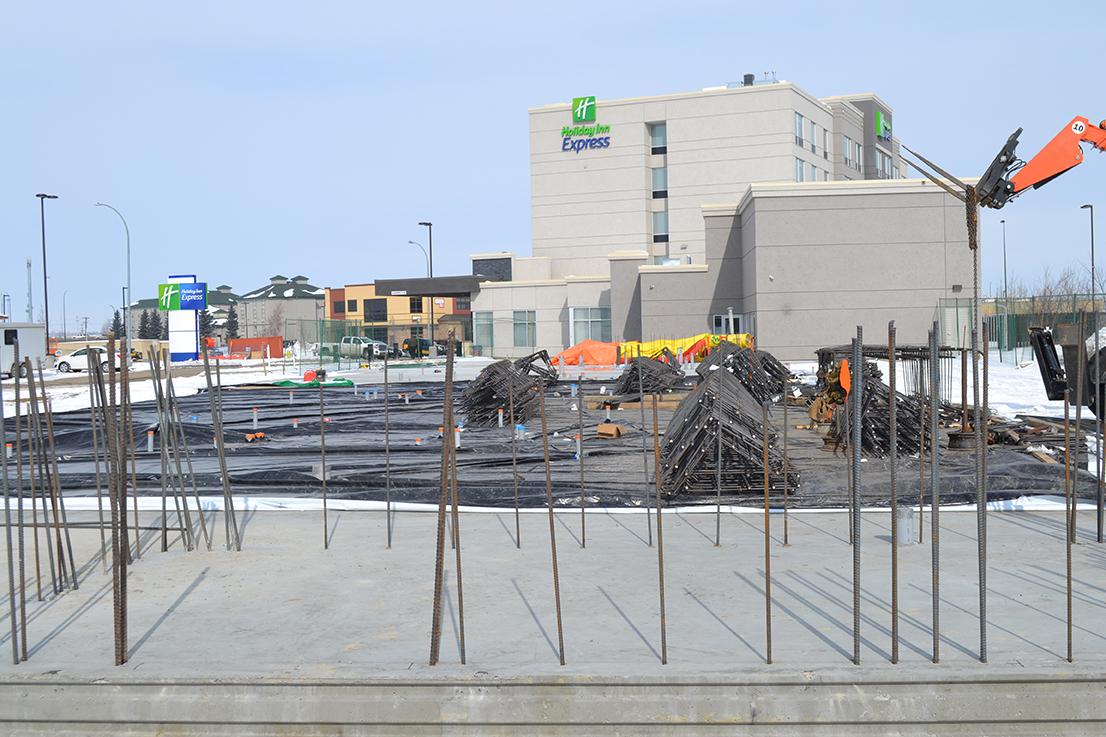 Staybridge Suites construction in Red Deer, Alberta