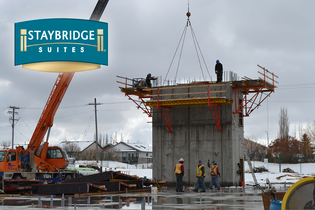 Staybridge Suites Red Deer Construction