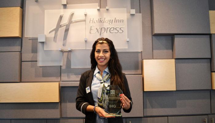 Holiday Inn Express Winning Metrics Award in Red Deer, Alberta