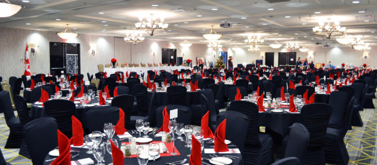 Corporate function in Promenade Ballrooms at Holiday Inn & Suites in Red Deer