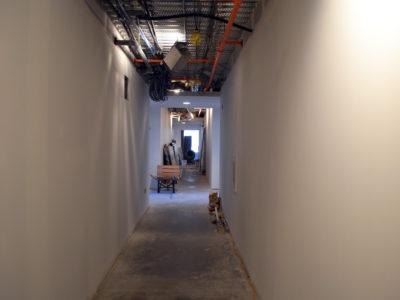 Staybridge Suites Red Deer - hallway during construction