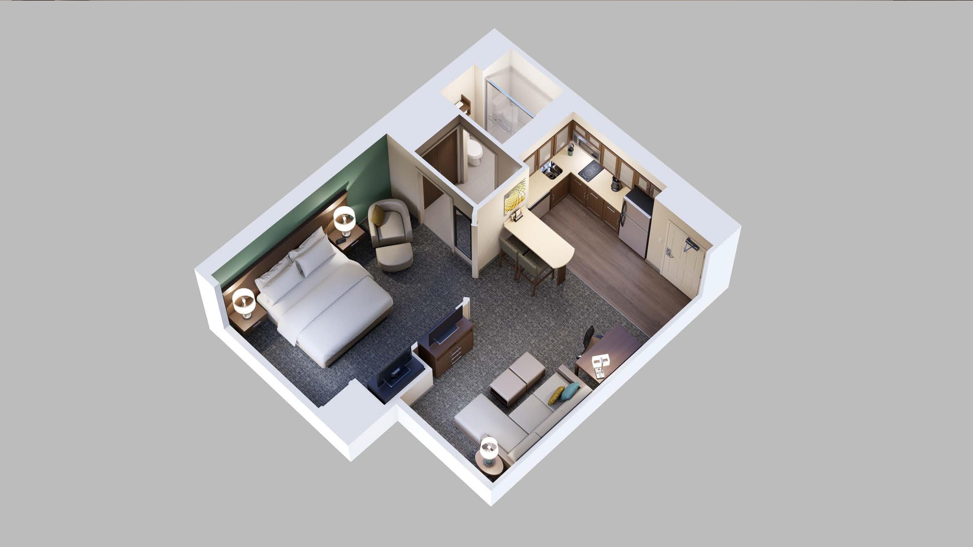 4 Bedroom King Suite  Staybridge Suites Red Deer  Best Sleep in Town