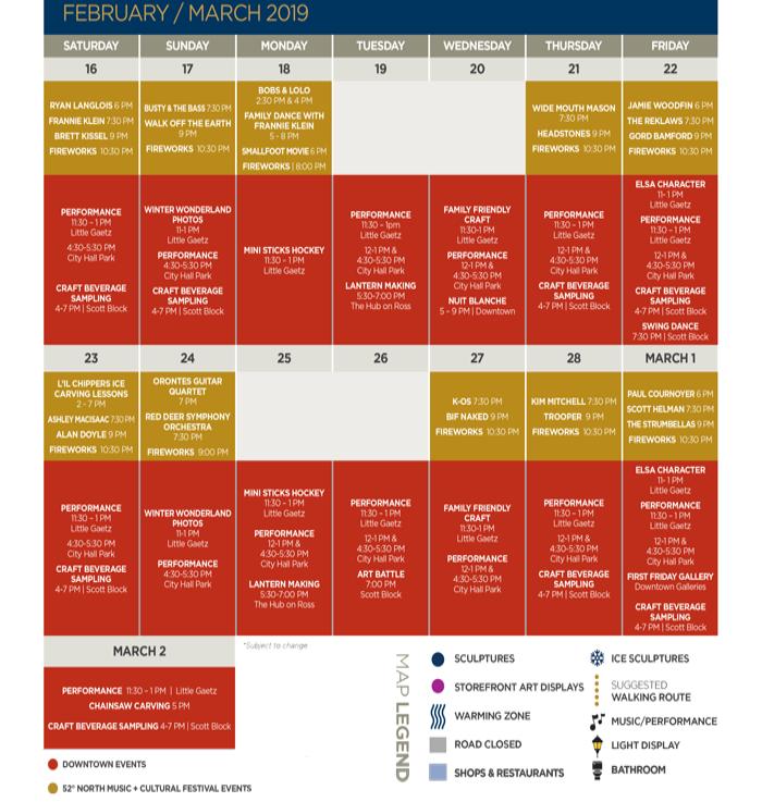 2019 Canada Winter Games Schedule