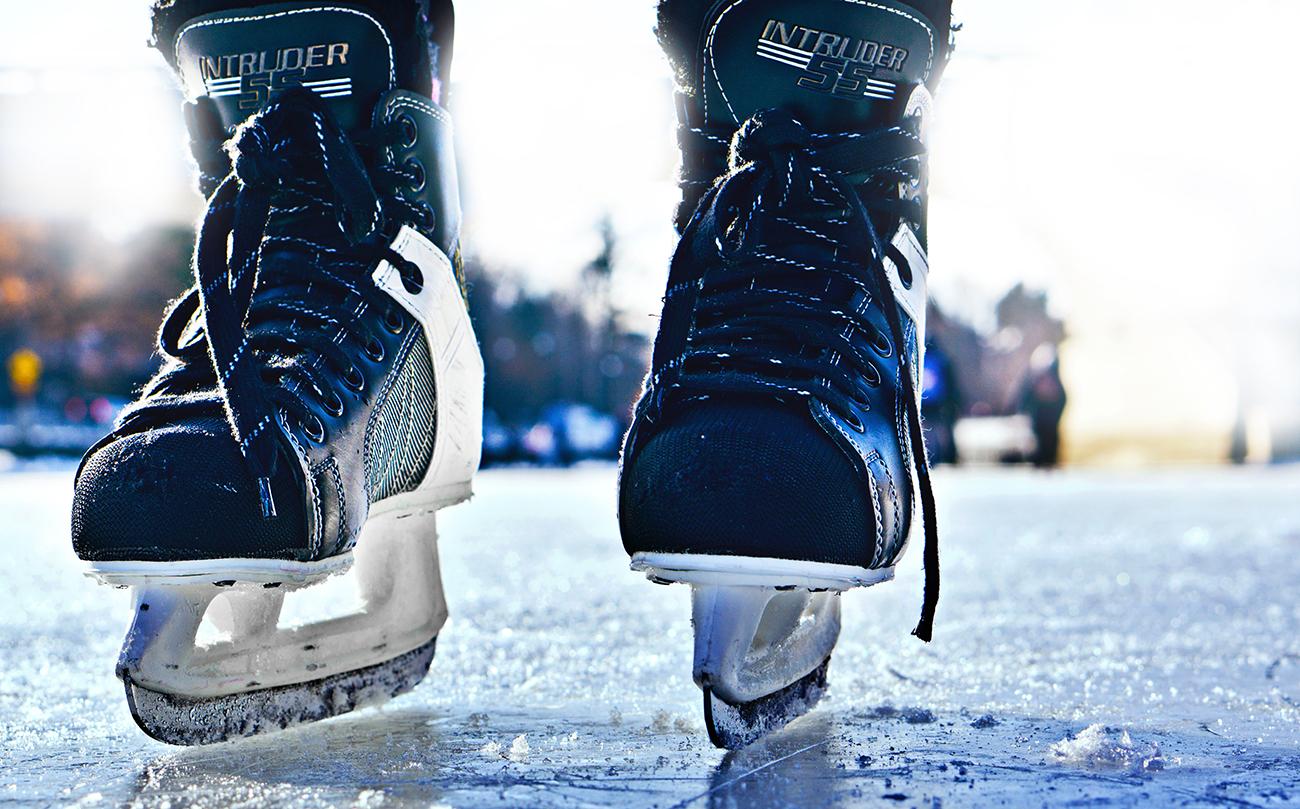 Skating in Red Deer