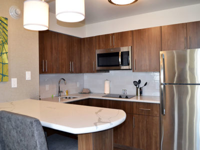 Staybridge Suites Red Deer One Room Studio Suite Kitchen