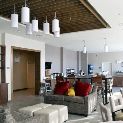 Staybridge Suites Red Deer Breakfast and Seating Area